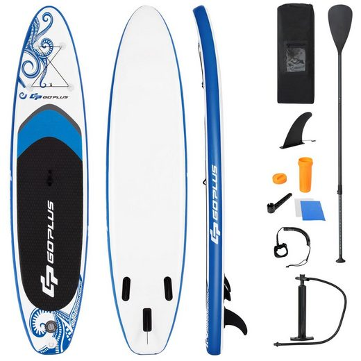 COSTWAY SUP-Board »Stand Up Paddling Board«, mit Sicherheitsleine, Paddel, Pumpe, Center Finne, Rucksack und Reparaturset