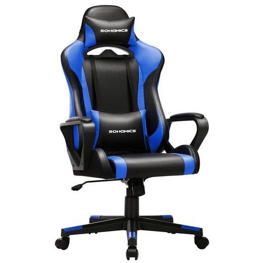 SONGMICS Gaming Chair »RCG011B01 RCG011B02«, Schreibtischstuhl, höhenverstellbar, Wippfunktion,ergonomisch