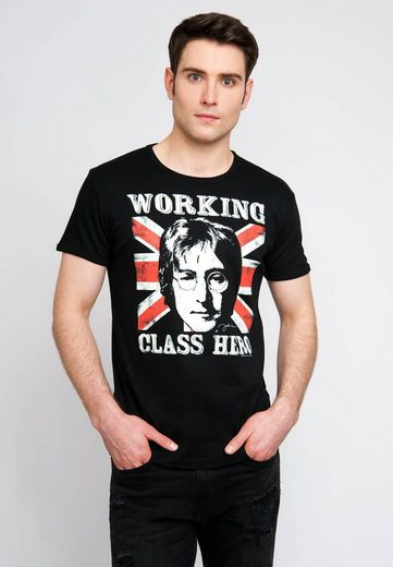 LOGOSHIRT T-Shirt mit lässigem Retro-Print »John Lennon«