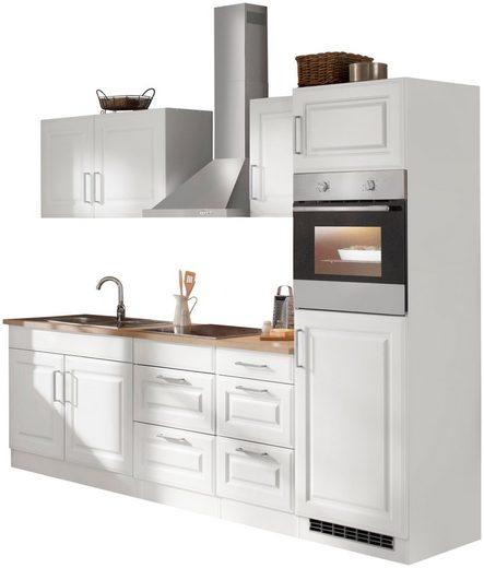 HELD MÖBEL Küchenzeile »Stockholm«, mit E-Geräten, Breite 270 cm