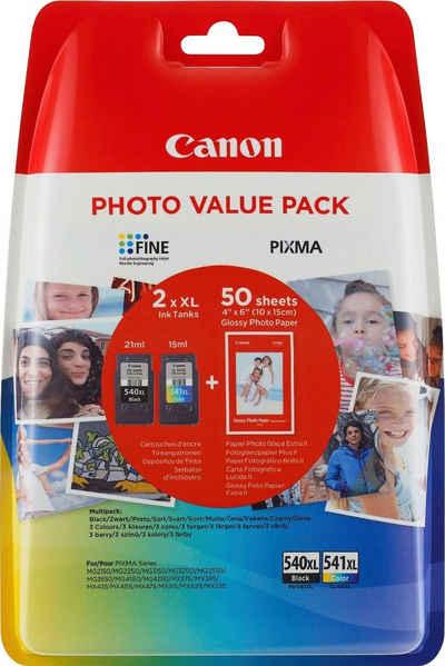 Canon »PG-540XL/CL-541XL + Foto Papier« Tintenpatrone (Set)