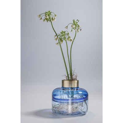 KARE Dekovase »Vase Positano Belly Blau 21cm«