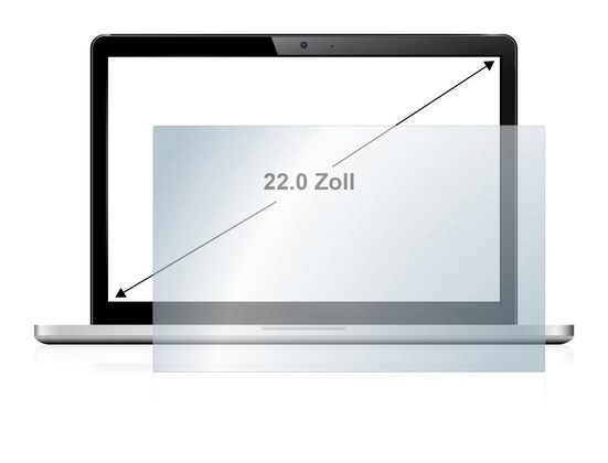upscreen Schutzfolie »für Notebooks 55.9 cm (22 Zoll) 475 x 297 mm«, Folie Schutzfolie klar antibakteriell