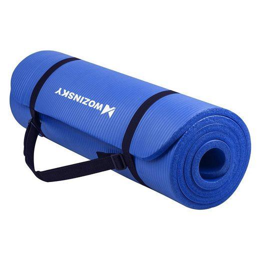cofi1453 Yogamatte »Gymnastische rutschfeste Matte zum Trainieren von 181 cm x 63 cm x 1 cm Yogamatte Tanzen Frauen Männer Fitness Training Gymnastik Workout«