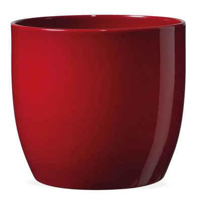 matches21 HOME & HOBBY Blumentopf »Pflanztopf Keramik Blumentopf glänzend Ø 14 cm Rot« (1 Stück)