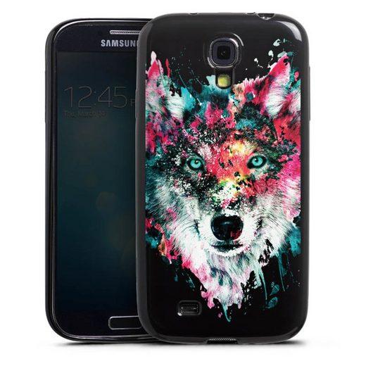 DeinDesign Handyhülle »Wolve ohne Hintergrund« Samsung Galaxy S4, Hülle Riza Peker Wolf bunt