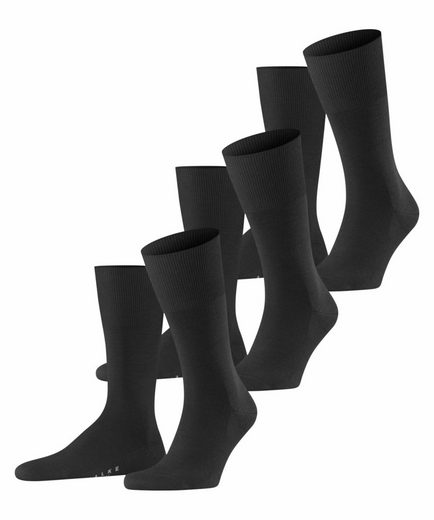 FALKE Socken »Airport 3-Pack« (3-Paar) mit Schurwolle