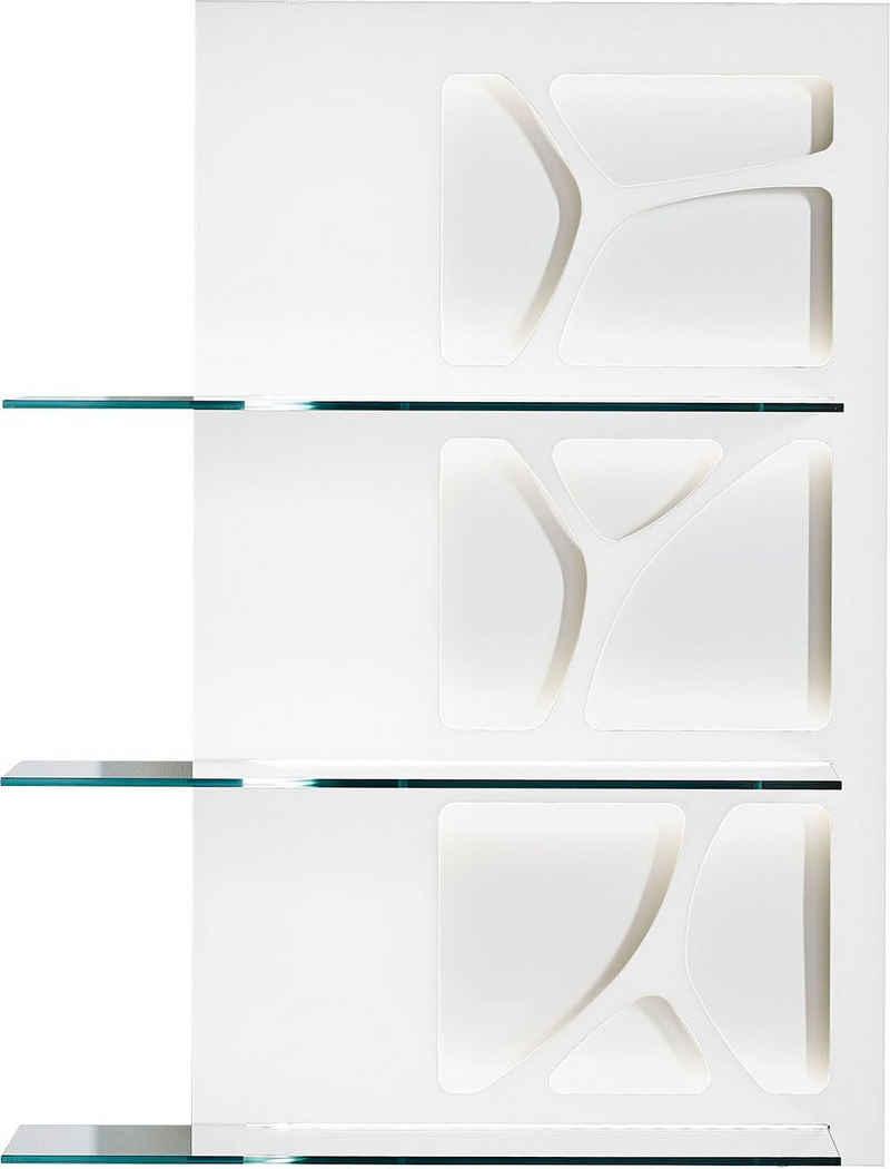 LEONARDO Wandpaneel »CUBE«, mit Genetics, mit 3 Ablageböden, wahlweise mit Beleuchtung, Breite 63 cm