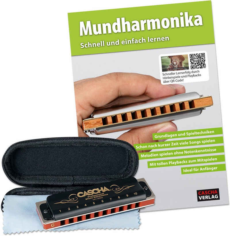 Cascha Mundharmonika-Set »Professional Blues Harmonica«, C, inkl. Lernbuch