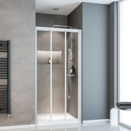 Schulte Dusch-Schiebetür »Sunny«, 80x175 cm, Kunststoff, mit Verstellbereich