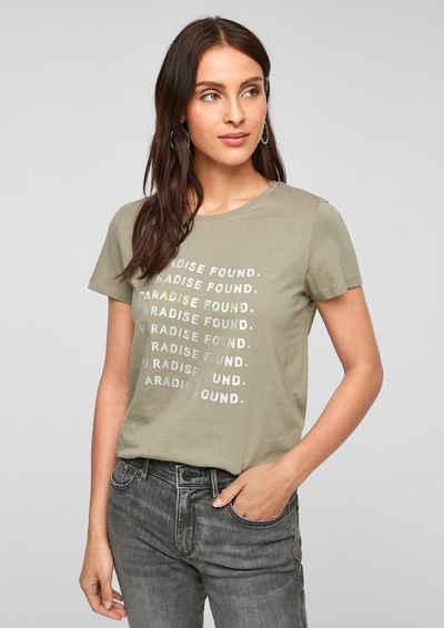 s.Oliver Kurzarmshirt »T-Shirt mit sommerlichem Druck« (1-tlg)