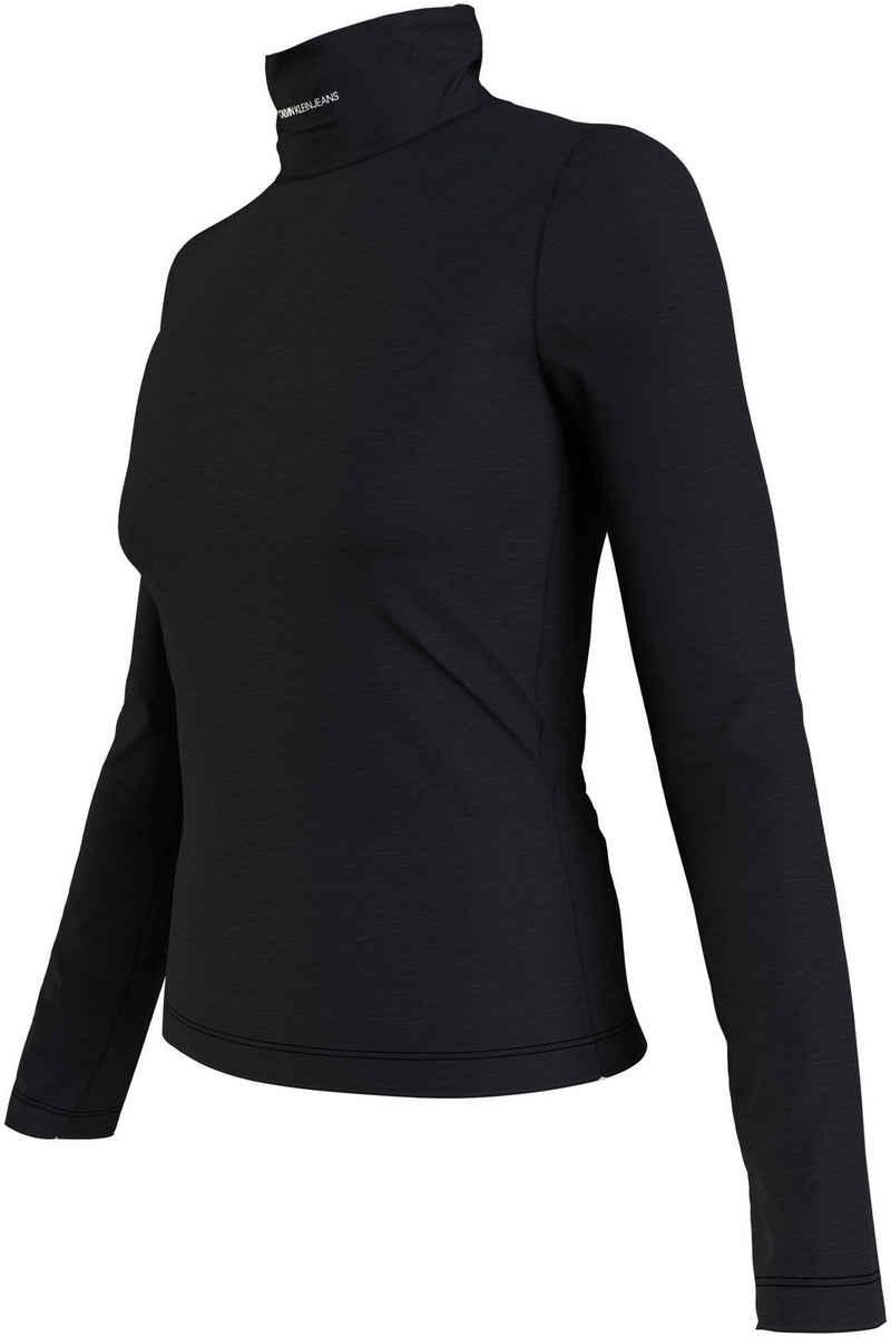 Calvin Klein Jeans Rollkragenshirt »MICRO BRANDING LS ROLL NECK« mit Calvin Klein Jeans Micro Logo-Schriftzug