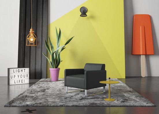 machalke® Sessel »single«, Ledersessel mit Metallkufen
