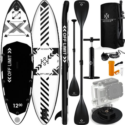 KESSER SUP-Board, Limit Aufblasbares SUP Board Set Stand Up Paddle Board Premium Surfboard Wassersport 6 Zoll Dick Komplettes Zubehör 130kg