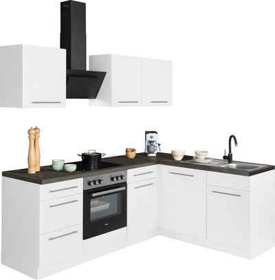 wiho Küchen Winkelküche »Unna«, mit E-Geräten, Stellbreite 220 x 170 cm
