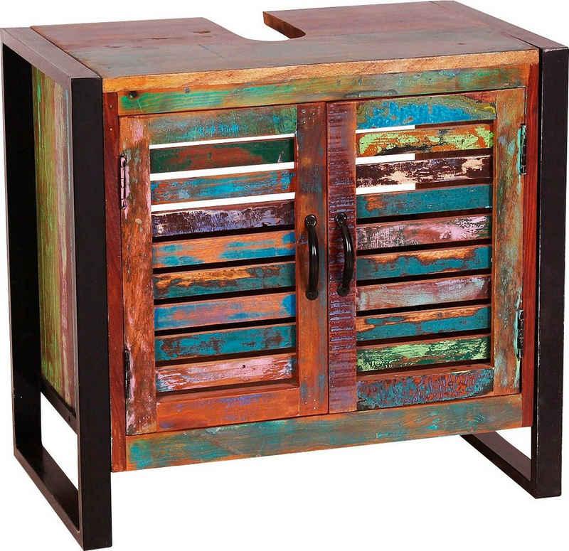 SIT Unterschrank Gefertigt aus bunt lackiertem Altholz