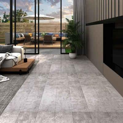 vidaXL Fußboden »vidaXL PVC-Laminat-Dielen 5,02 m² 2 mm Selbstklebend Erdtöne Grau«