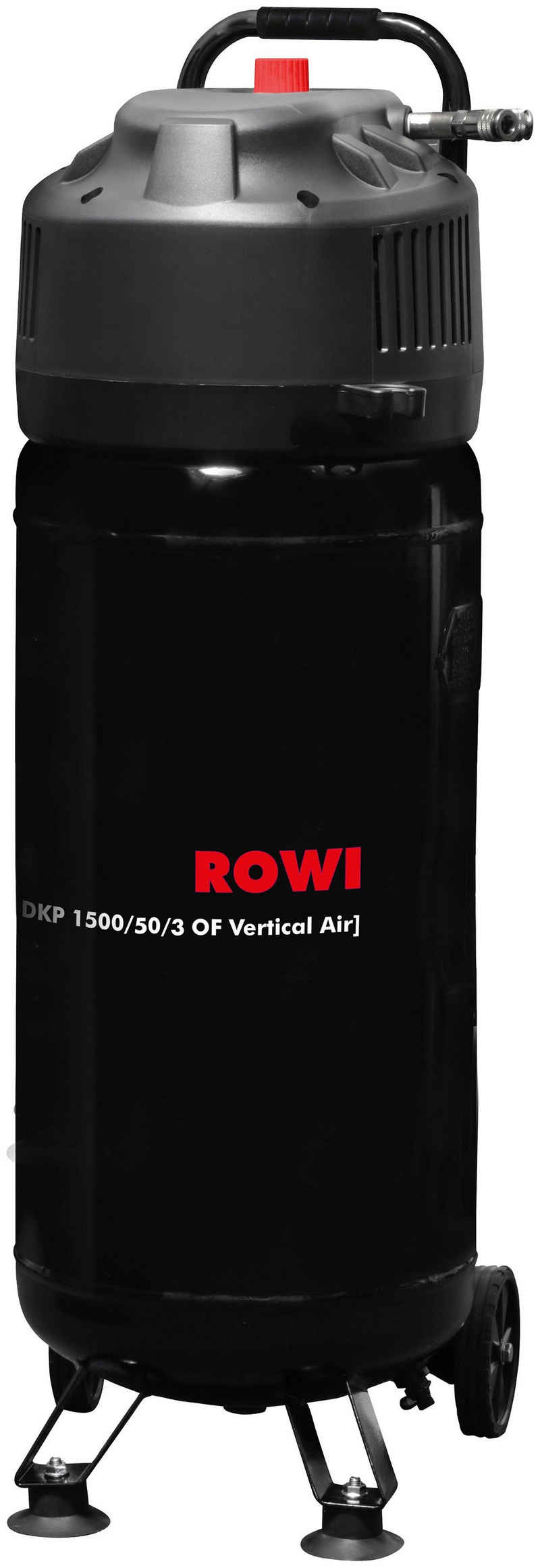 ROWI Kompressor »DKP 1500/50/3 OF Vertical Air«, 1500 W, max. 10 bar, 50 l