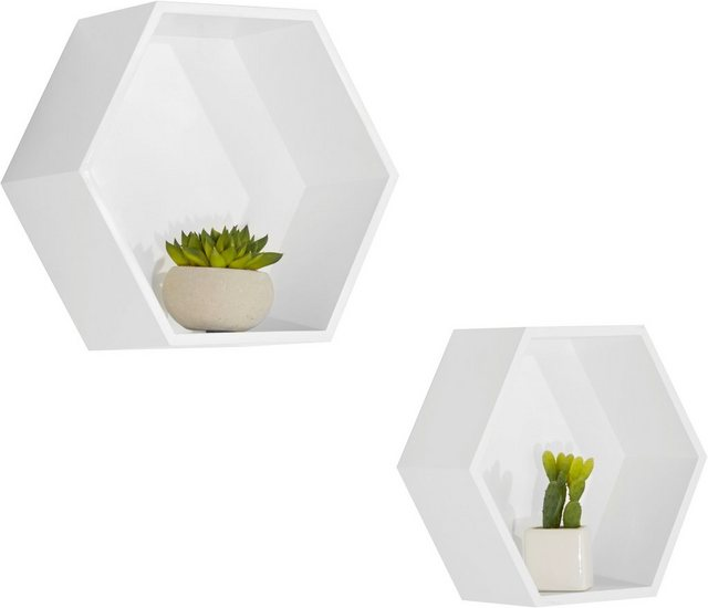 Regale - Lüttenhütt Wandregal »Hexagon«  - Onlineshop OTTO