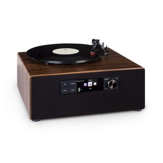 Auna »Connect Vinyl Cube Plattenspieler 40W max. Internet/DAB+/UKW USB braun« Stereoanlage (Digitalradio (DAB), 20 W, Internetradio)