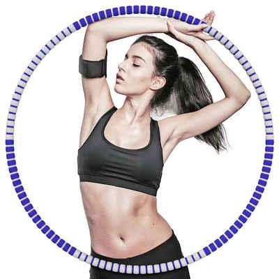 ANVASK Hula-Hoop-Reifen »Hula Hoop Fitness Hula Hoop Gewichtsverlust Hula Hoop Reifen« (6-tlg)