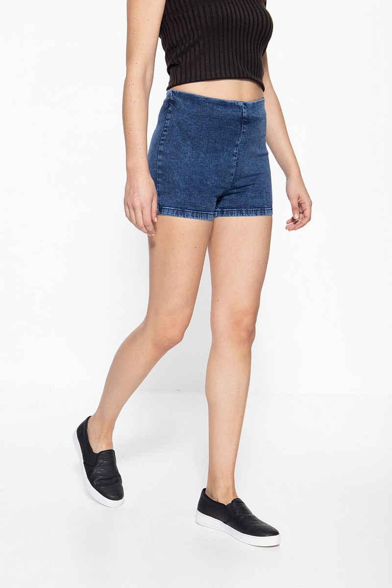 Mexx Jeansshorts mit nahtverdecktem Reißverschluss