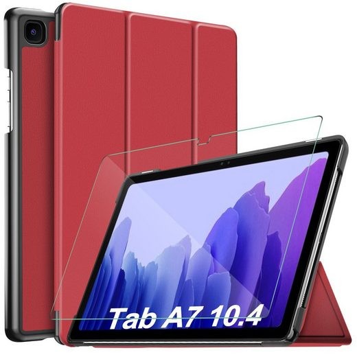 IVSO Tablet-Hülle »Hülle Kompatibel mit Samsung Galaxy Tab A7 10.4 2020,« Samsung Galaxy Tab A7 T505/T500/T507 10.4 Zoll 2020 26,4 cm (10,4 Zoll), Mit Panzerglas, Slim Hochwertiges PU Schutzhülle mit Displayschutz Kompatibel mit