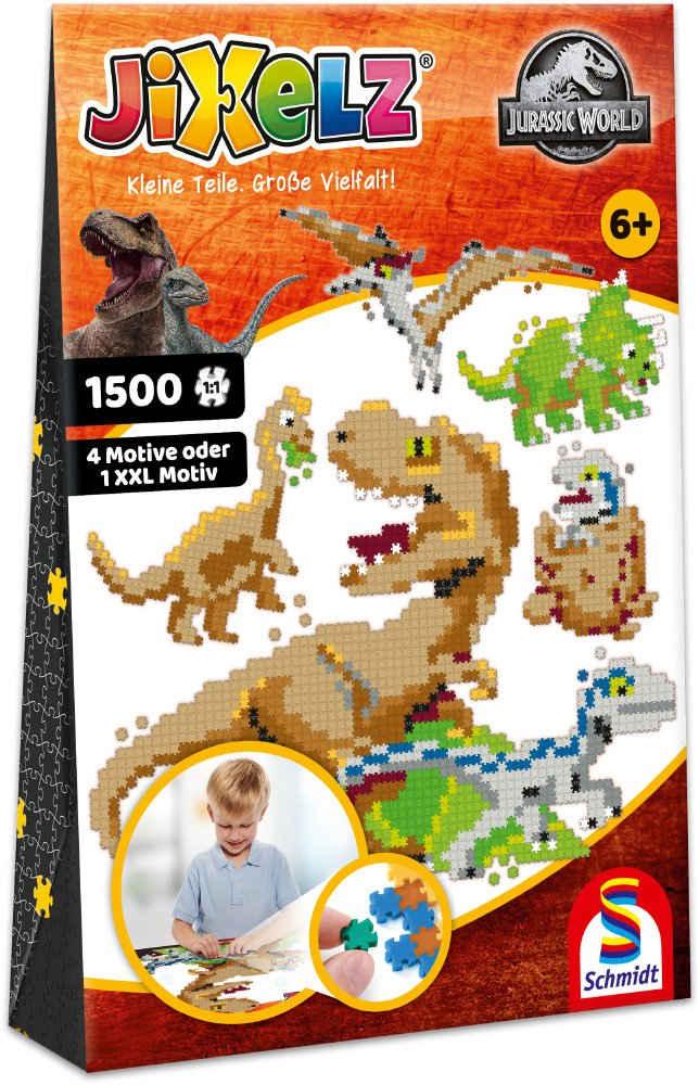 Schmidt Spiele Konturenpuzzle »Jixelz®, Jurassic World«, 1500 Puzzleteile