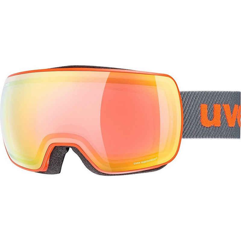 Uvex Skibrille »Skibrille Compact FM Black Mat/Silver-Blue«