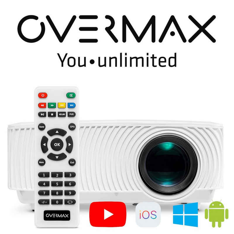 Overmax »MULTIPIC 2.4« Beamer (1200 lm, 1500:1, HD 1920 x 1080P px, Full-HD YouTube SCREEN MIRRORING 130 Zoll Wi-Fi)