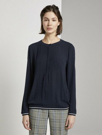 TOM TAILOR Shirtbluse »Bluse in Crincle-Optik«