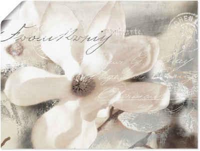 Artland Wandbild »Magnolie_Detail«, Blumenbilder (1 Stück), in vielen Größen & Produktarten - Alubild / Outdoorbild für den Außenbereich, Leinwandbild, Poster, Wandaufkleber / Wandtattoo auch für Badezimmer geeignet