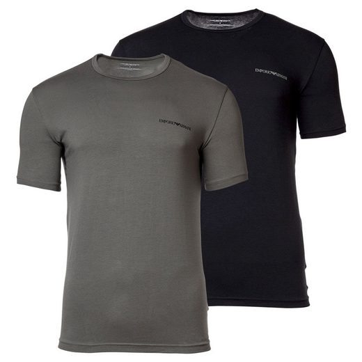 Emporio Armani T-Shirt »Herren T-Shirt, 2er Pack - Kurzarm, Rundhals,«
