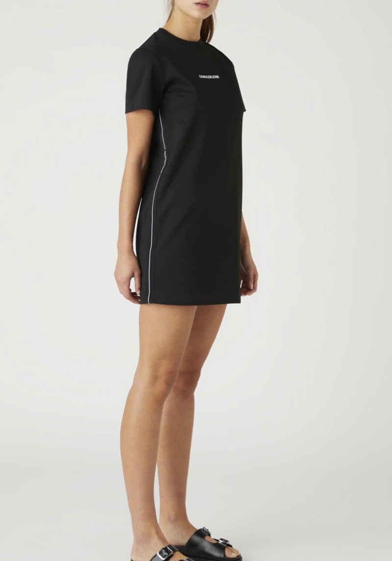 Calvin Klein Jeans Jerseykleid »Milano T-shirt Dress« mit seitlich kontrastfarbenen Calvin Klein Jeans Logo-Streifen