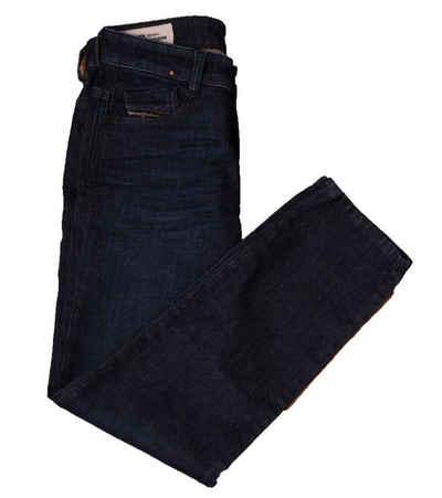 Diesel Regular-fit-Jeans »DIESEL Denim-Hose coole Damen Slim-Fit-Jeans in dezenter Waschung Freizeit Hose Blau«