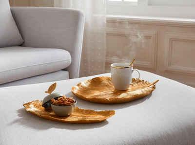 Guido Maria Kretschmer Home&Living Dekotablett »Feder«, mit Antik-Finish