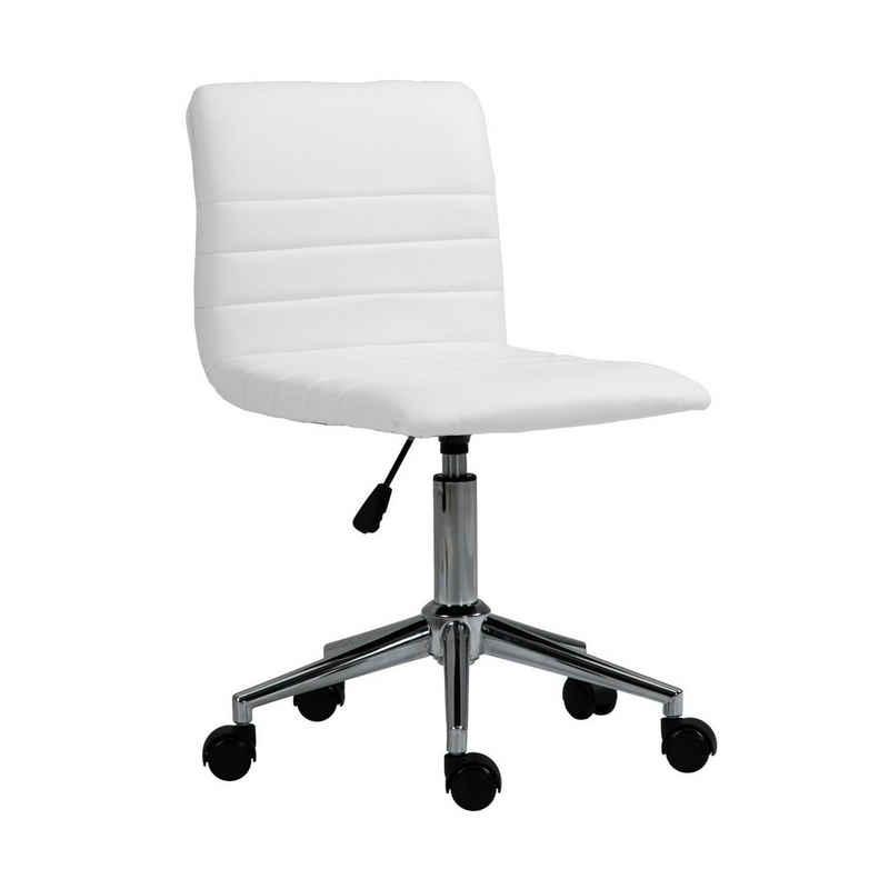 SVITA Schreibtischstuhl »LINUS« (1 Stück), stufenlos höhenverstellbar, gepolsterte Sitzfläche, gepolsterte Rückenlehne, 360° drehbar, Fußkreuz aus verchromtem Stahl