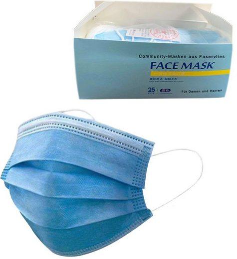 Community-Masken, (Packung, 25-tlg), Einweg-Maske für Erwachsene