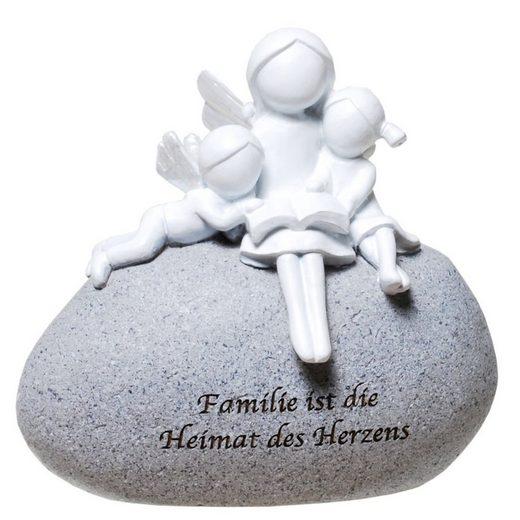 Udo Schmidt Bremen...das Original Engelfigur »Udo Schmidt GmbH & Co Schutzengel auf Stein mit Spruch: Familie ist die Heimat des Herzens Engel Figur«