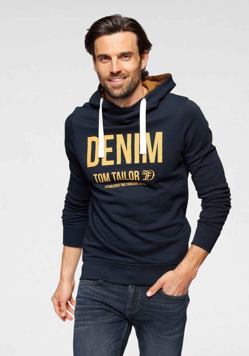 TOM TAILOR Denim Kapuzensweatshirt mit Logofrontprint