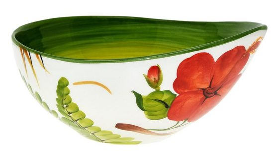 Lashuma Servierschale »Hibiskus«, Keramik, (1-tlg), Runde Soßenschale, Servierschüssel Ø 20 cm