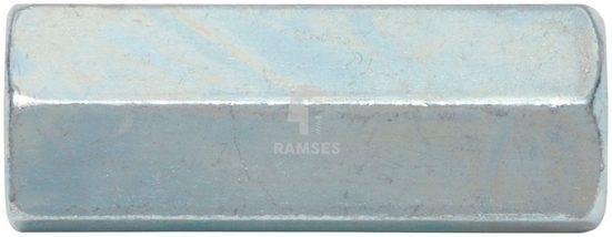 RAMSES Gewindemuffe, (8-St), Sechskant M12