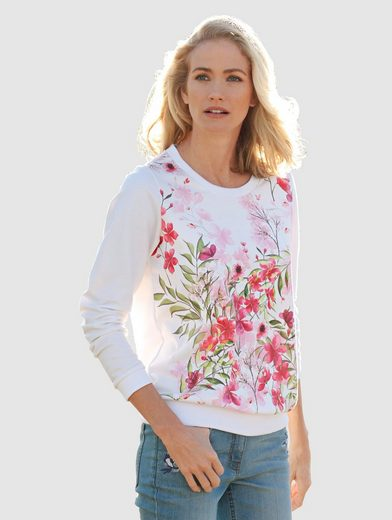 Dress In Sweatshirt mit Blumen