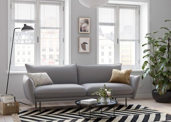 andas 3-Sitzer »Stine«, Besonderes Design durch Kissenoptik und Keder, Design by Morten Georgsen