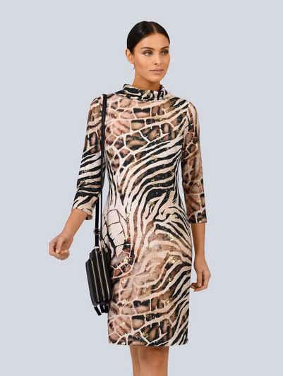 Alba Moda Jerseykleid mit tollem Foliendruck