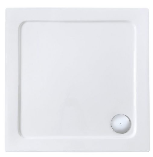 Sanotechnik Eckduschwanne, quadratisch, Sanitäracryl, B x T: 80 x 80 cm
