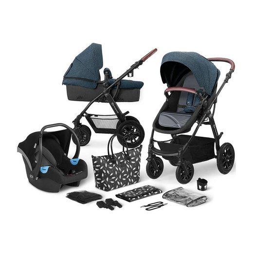 Kinderkraft Kombi-Kinderwagen »Kinderwagen Xmoov, multifunktional, 3in1, denim«