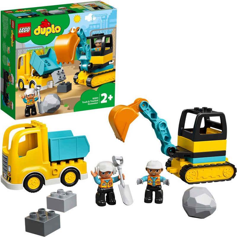 LEGO® Konstruktionsspielsteine »Bagger und Laster (10931), LEGO® DUPLO® Town«, (20 St)
