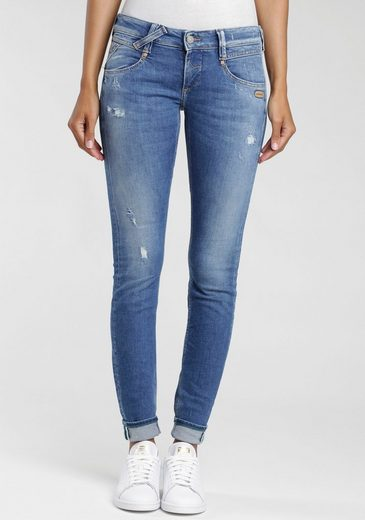 GANG Skinny-fit-Jeans »Nena« mit Destroyed-Effekten