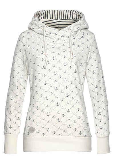 "Ragwear Sweater »GRIPY MARINA« mit maritimen ""Anker"" Allover-Druck"